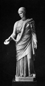 Hygeia, with her snake.