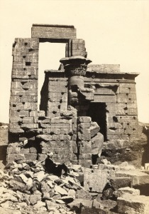 Temple of Montu and Rattawy by Francis Frith.