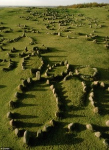 Viking burial stone ships, Lindholm Høje, Denmark. 1000-1200 AD. From Tumblr.