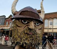 Ullr float at Ullr Fest.