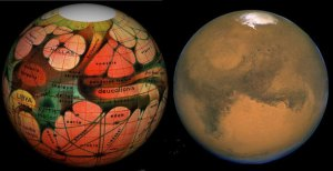 Mars in 1894; view from the Hubble.
