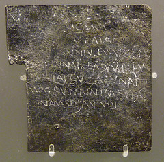 Lead curse tablet from Bath. Picture by Damian Entwhistle on Flickr.