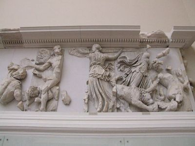 Pergamon altar with Phoebe and Asteria. Photo by Claus Ableiter.