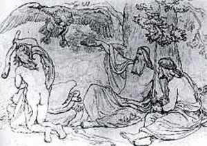 The travelling gods encounter Thiazi.