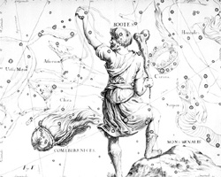 Boötes, in Uranographia by Johannes Hevelius (1690).