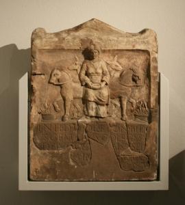 Altar to Epona, from the Wetteraumuseum. (Wikimedia)