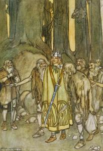 Finn McCool comes to aid the Fianna - Wikimedia.