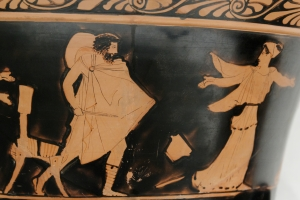 Odysseus pursuing Circe. Attributed to the Persephone Painter - Marie-Lan Nguyen (2011)