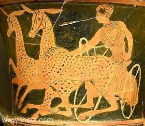 Artemis in her chariot - Theoi.com