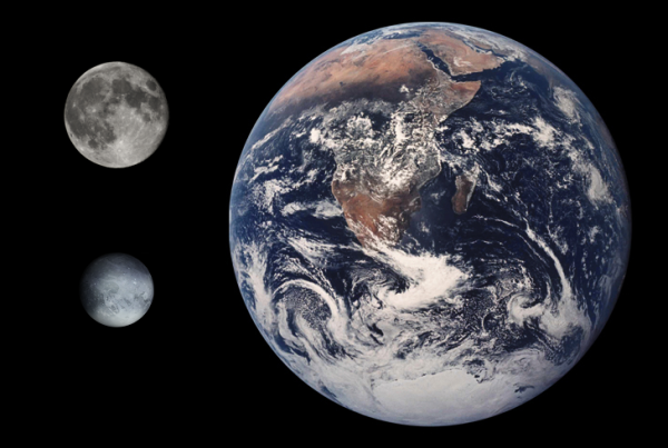 Tom.Reding - This picture was composed from File:Enceladus Earth Moon Comparison.png, File:Full Moon Luc Viatour.jpg, and File:Pluto impression.png, by Tom Reding (Wikimedia)