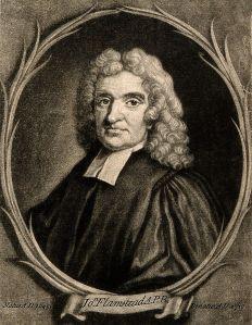 John Flamsteed by Godfrey Kneller, 1702 (Wikimedia)