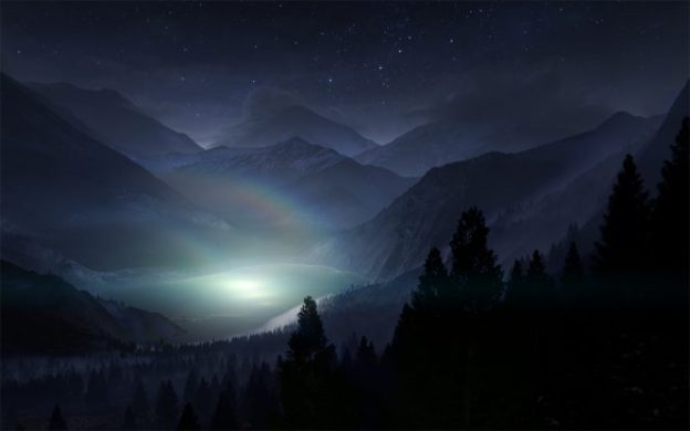 http://www.wallpaperup.com/40016/Lake_Night_CG_Stars_Trees_Mountains_Landscape.html