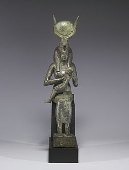 256px-Egyptian_-_Isis_with_Horus_the_Child_-_Walters_54416