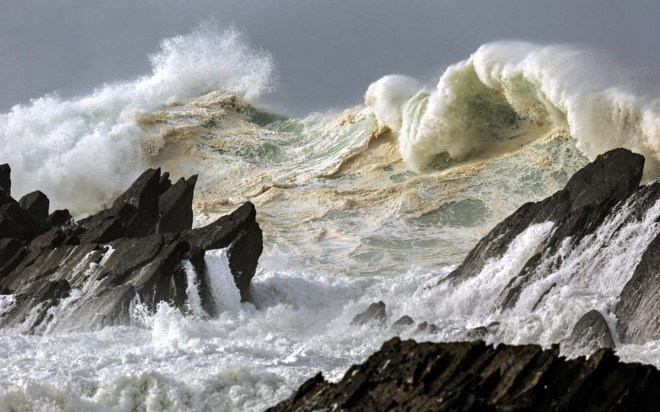 rough seas coast of Ireland
