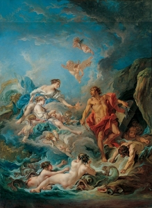 Juno asking Aeolus to release the winds, by Francois Boucher. Wikimedia.
