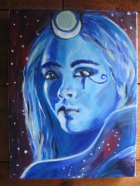 A lovely painting of a lunar Isis by artist Katana Leigh. Visit her site here.